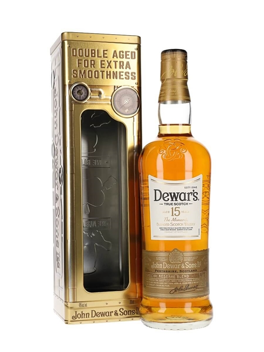 Dewars 15 Year Old / Clock Tin Blended Scotch Whisky