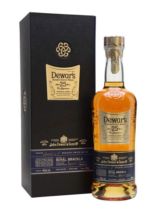 Dewars Signature 25 Year Old Blended Scotch Whisky