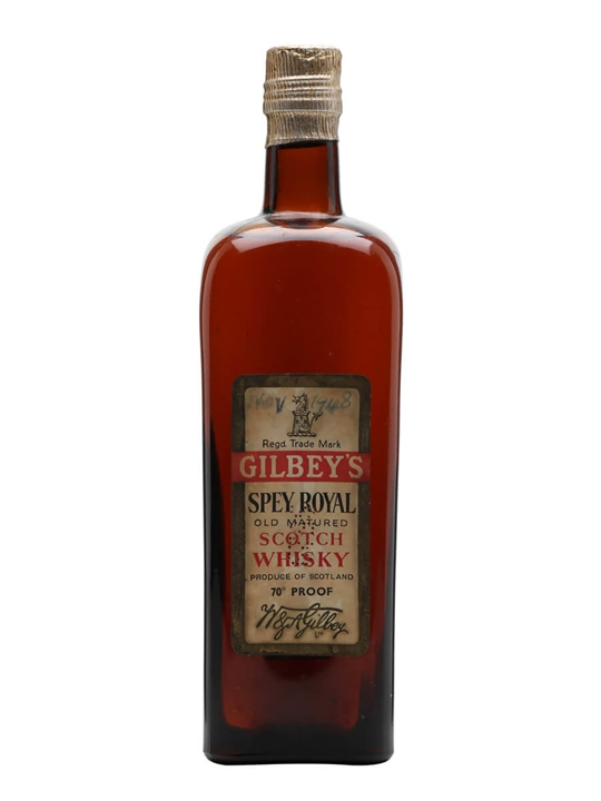Gilbey's Spey Royal / Bot.1940s Blended Scotch Whisky