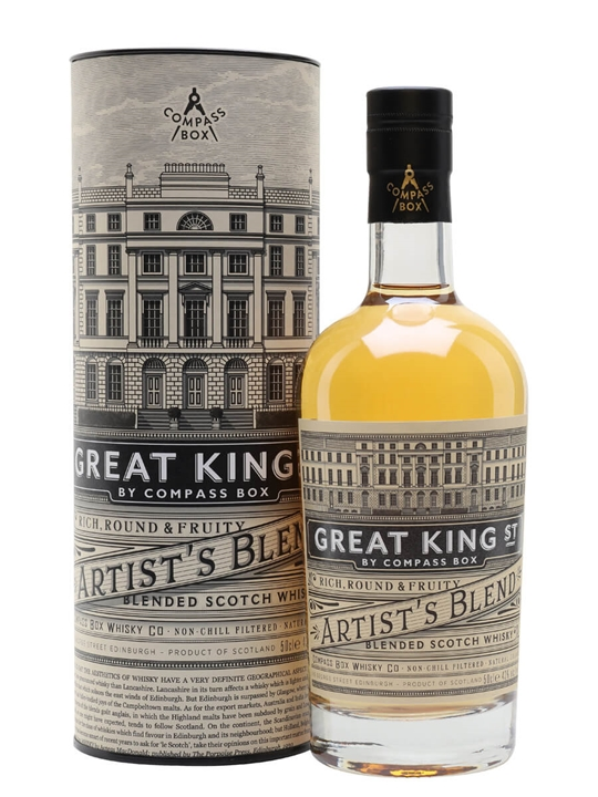 Compass Box Artist's Blend / Great King Street / Half Litre Blended Whisky
