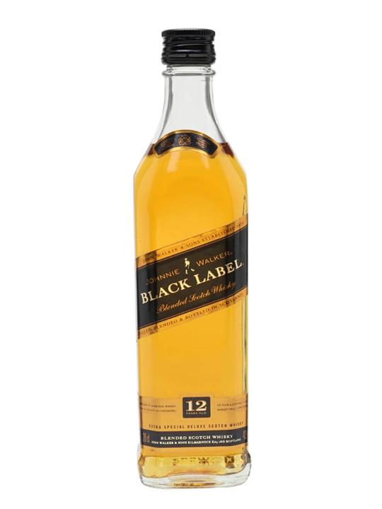 Johnnie Walker 12 Year Old Black Label / Small Bottle Blended Whisky