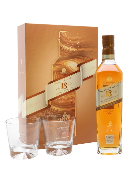Johnnie Walker 18 Year Old / Glass Set Blended Scotch Whisky