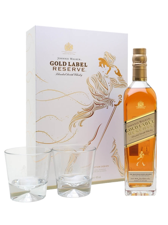Johnnie Walker Gold Label Reserve Gift Pack Blended Scotch Whisky