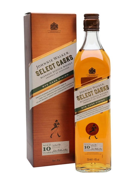 Johnnie Walker Select Cask 10 Year Old / Rye Cask Finish Blended Whisky