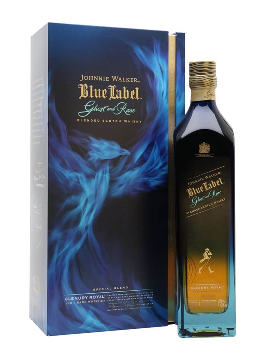 Johnnie Walker Blue Label Ghost And Rare / Glenury Royal Blended Whisky