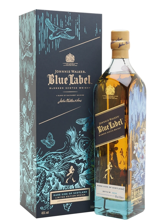 Johnnie Walker Blue Label Rare Side of Scotland Blended Scotch Whisky