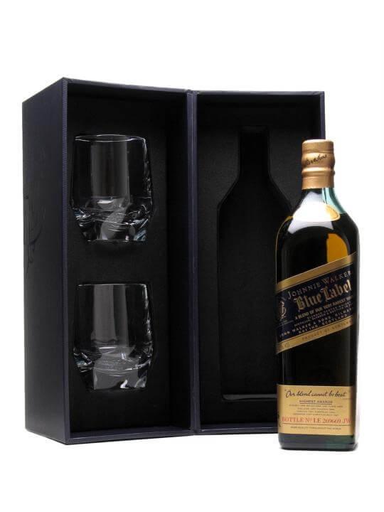 Johnnie Walker Blue Label  Walker & Son Glass Pack Blended Whisky