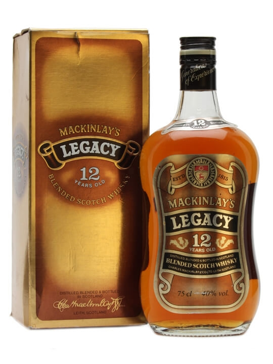 Mackinlay's 12 Year Old / Legacy / Bot.1980s Blended Scotch Whisky