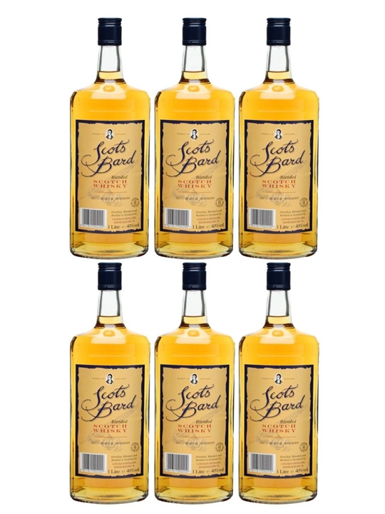 Scots Bard / Case of 6 Bottles Blended Scotch Whisky