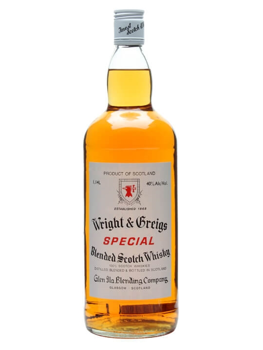 Wright & Greigs Blended Whisky  Large Bottle Blended Scotch Whisky