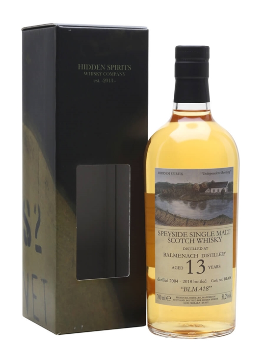 Balmenach 2004 / 13 Year Old / Blm.418 / Hidden Spirits Speyside Whisky