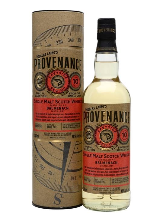 Balmenach 2007 / 10 Year Old / Provenance Speyside Whisky