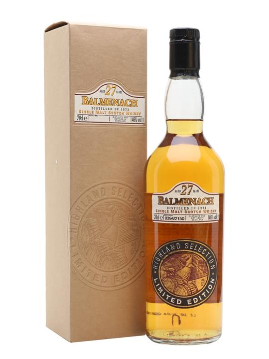 Balmenach 1973 / 27 Year Old Speyside Single Malt Scotch Whisky