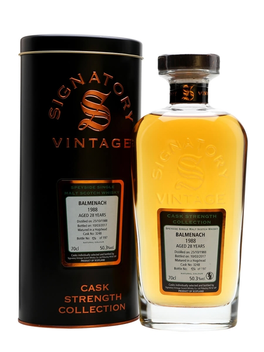 Balmenach 1988 / 28 Year Old / Signatory Speyside Whisky