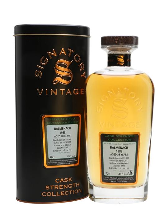 Balmenach 1988 / 28 Year Old / Cask #3243 / Signatory Speyside Whisky