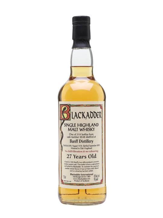 Banff 1976 / 27 Year Old / Blackadder Highland Whisky