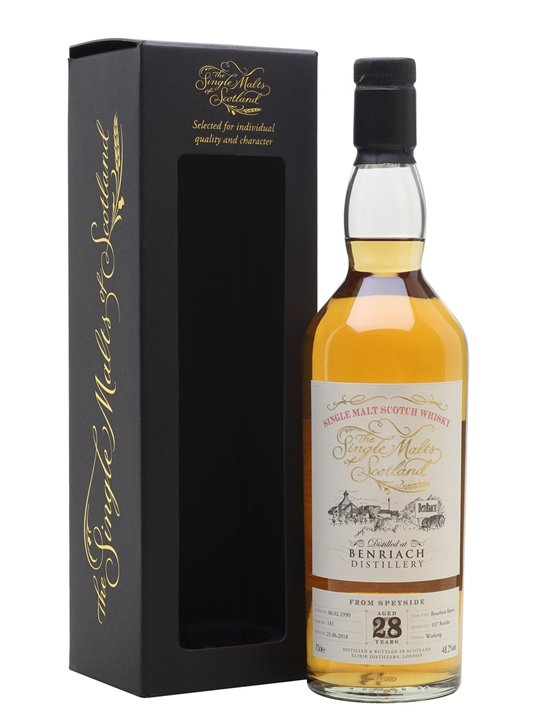Benriach 1990 / 28 Year Old / Single Malts Of Scotland Speyside Whisky