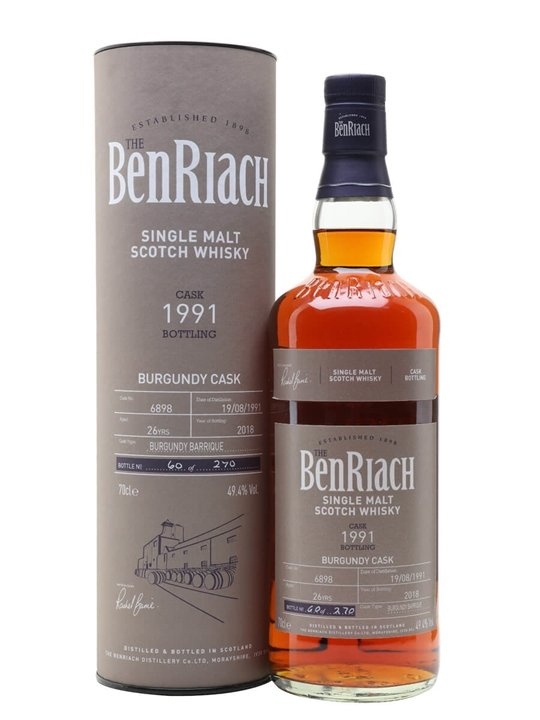 BenRiach 1991 / 26 Year Old / Cask #6898 / Batch 15 Speyside Whisky