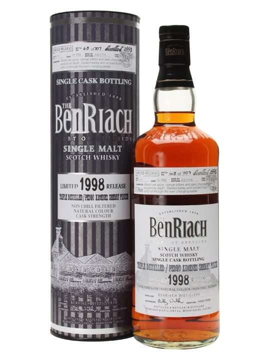 Benriach 1998 / 16 Year Old / Triple Distilled / PX Finish Speyside Whisky