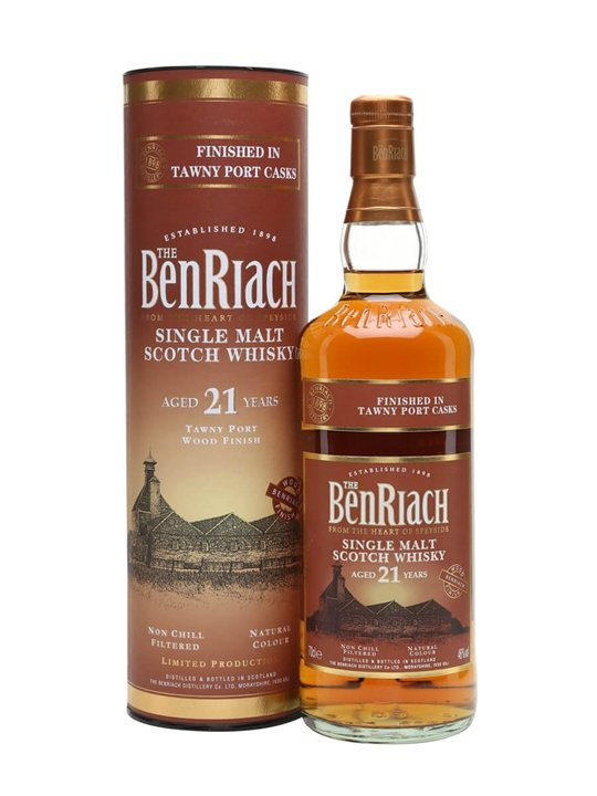 Benriach 21 Year Old / Tawny Port Finish Speyside Whisky