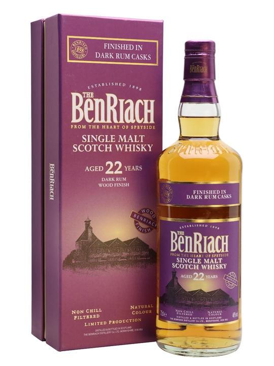 Benriach 22 Year Old Dark Rum Speyside Single Malt Scotch Whisky