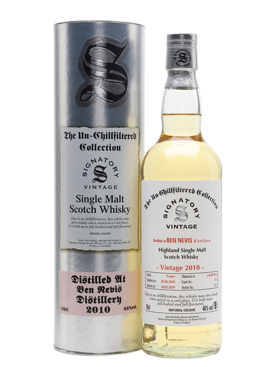 Ben Nevis 2010 / 9 Year Old / Signatory Highland Whisky