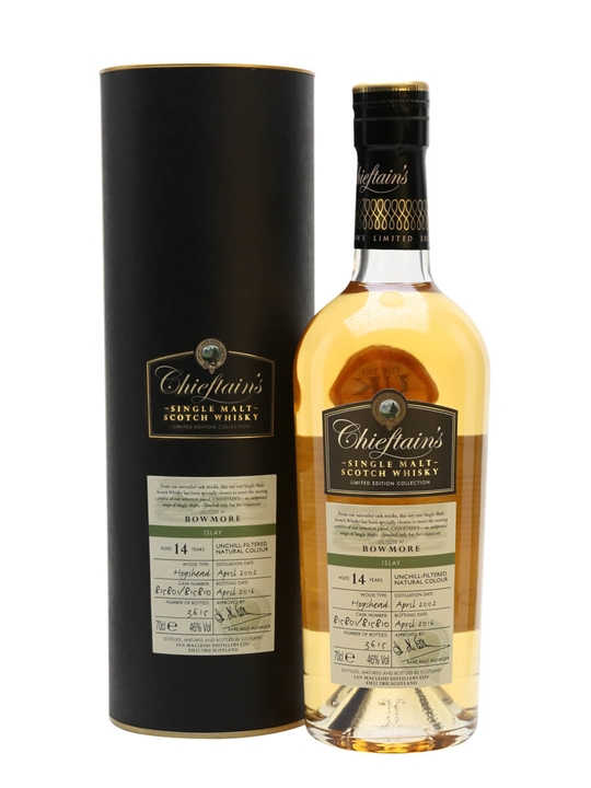 Bowmore 2002 / 14 Year Old / Chieftain's Islay Whisky
