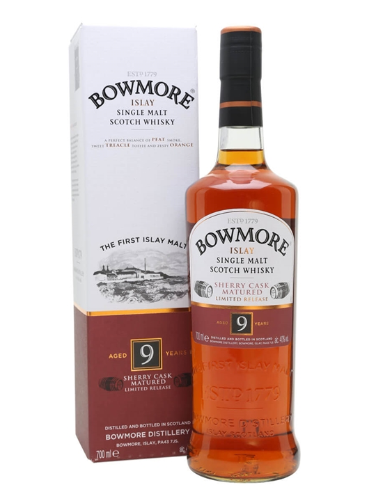 Bowmore 9 Year Old / Sherry Cask Islay Single Malt Scotch Whisky