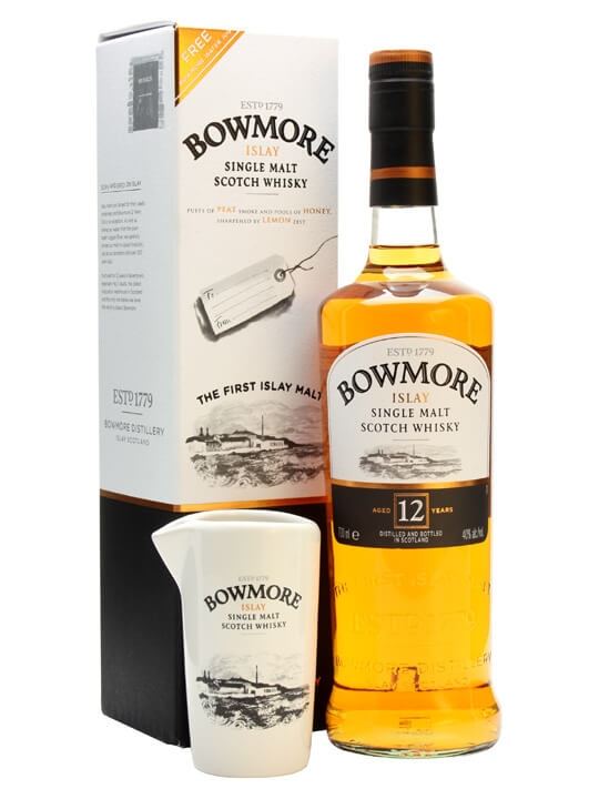 Bowmore 12 Year Old With Water Jug Islay Single Malt Scotch Whisky
