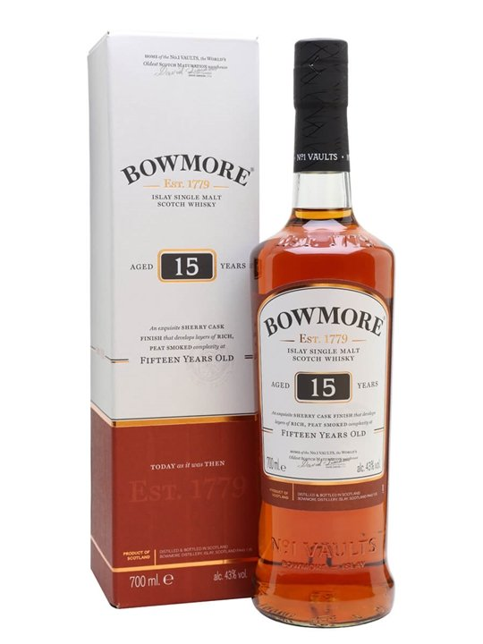 Bowmore 15 Year Old Islay Single Malt Scotch Whisky