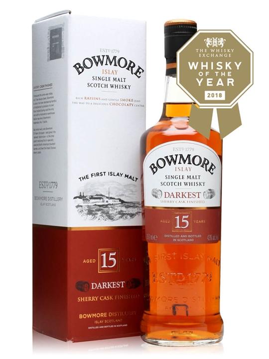 Bowmore 15 Year Old / Darkest / Half Bottle Islay Whisky