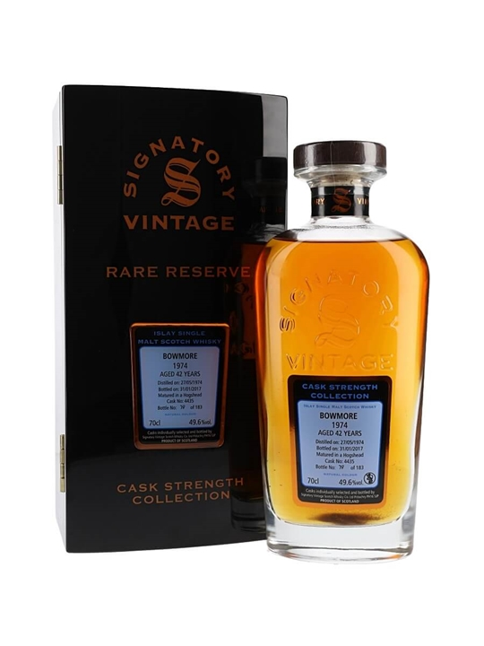 Bowmore 1974 / 42 Year Old / Rare Reserve / Signatory Islay Whisky