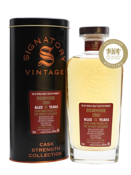 Bowmore 2001 / 15 Year Old / TWE Exclusive / Signatory Islay Whisky