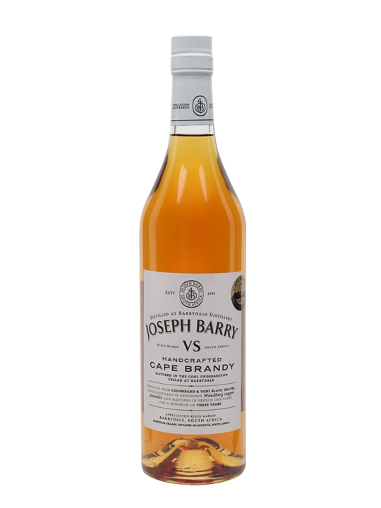 Joseph Barry VS Cape Brandy