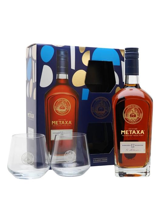 Metaxa 12 Star Brandy / Glass Pack