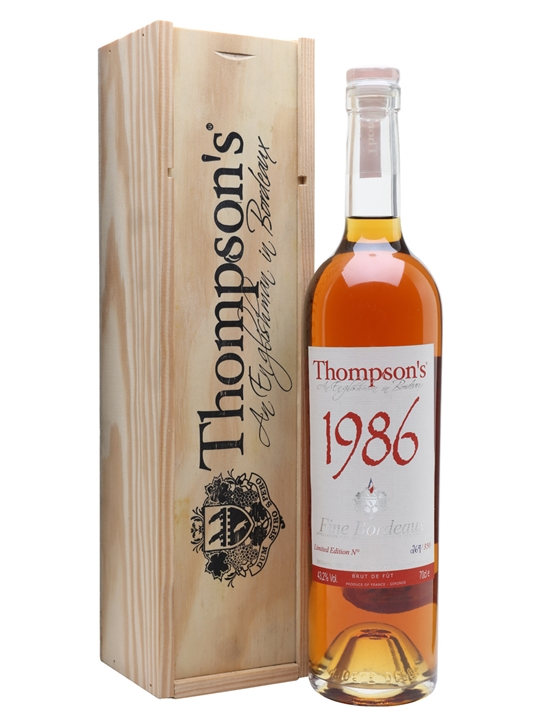 Thompson's 1986 Fine Bordeaux Brandy