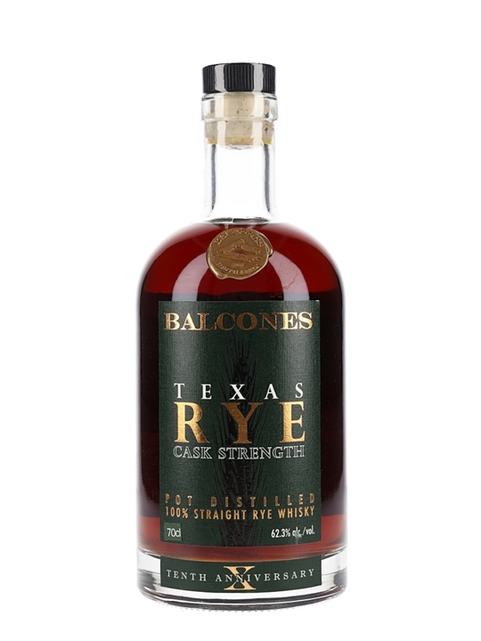 Balcones Texas Rye Cask Strength
