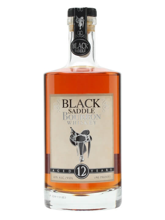 Black Saddle 12 Year Old Bourbon Kentucky Straight Bourbon Whiskey
