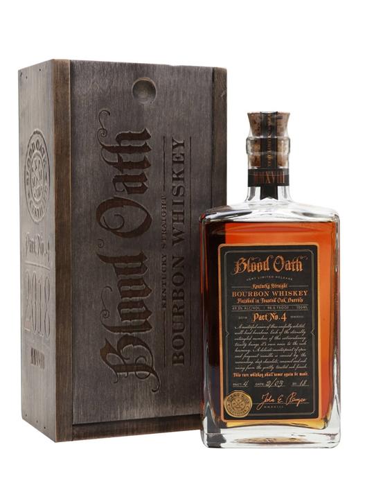Blood Oath Bourbon Pact No.4 Kentucky Straight Bourbon Whiskey