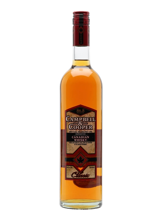 Campbell & Cooper Classic Canadian Whisky Blended Canadian Whisky
