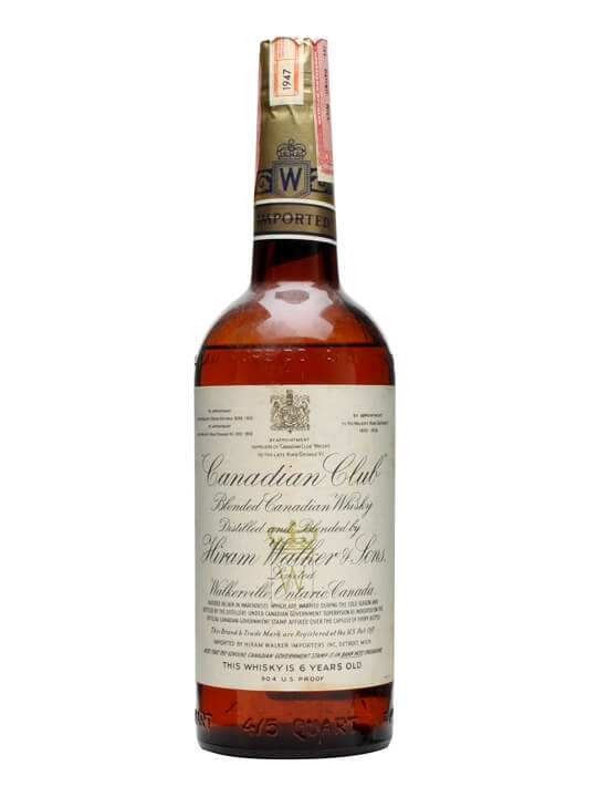 Canadian Club 6 Year Old / Bot.1947