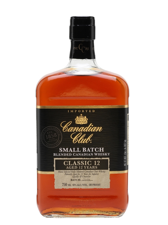 Canadian Club / Classic 12 Years Old Small Batch Canadian Whisky
