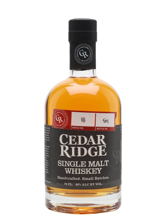 Cedar Ridge Single Malt American Single Malt Whiskey