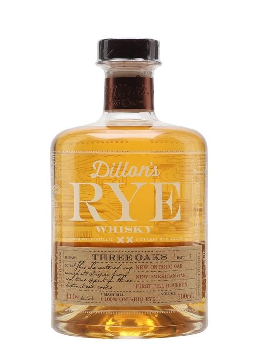 Dillon's Rye Whisky / Three Oaks Batch 3 Canadian Rye Whisky