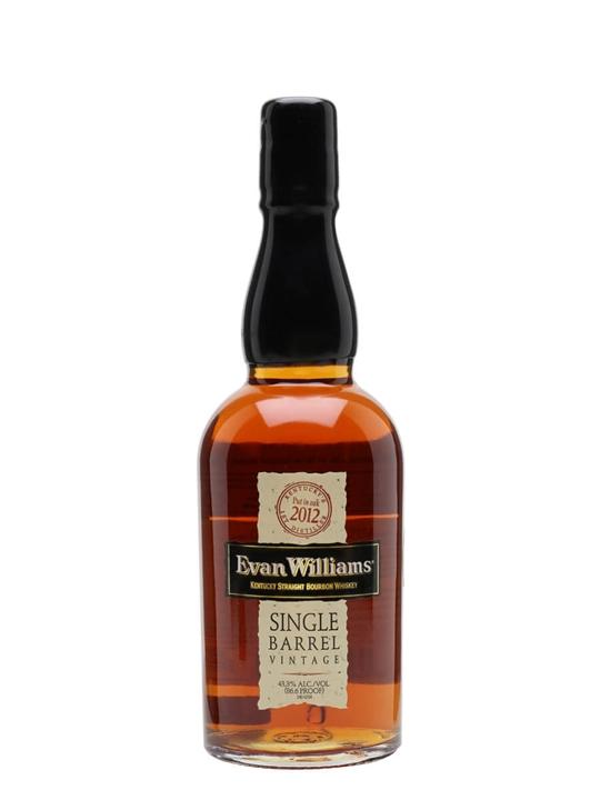 Evan Williams Single Barrel Vintage 2012 Bourbon