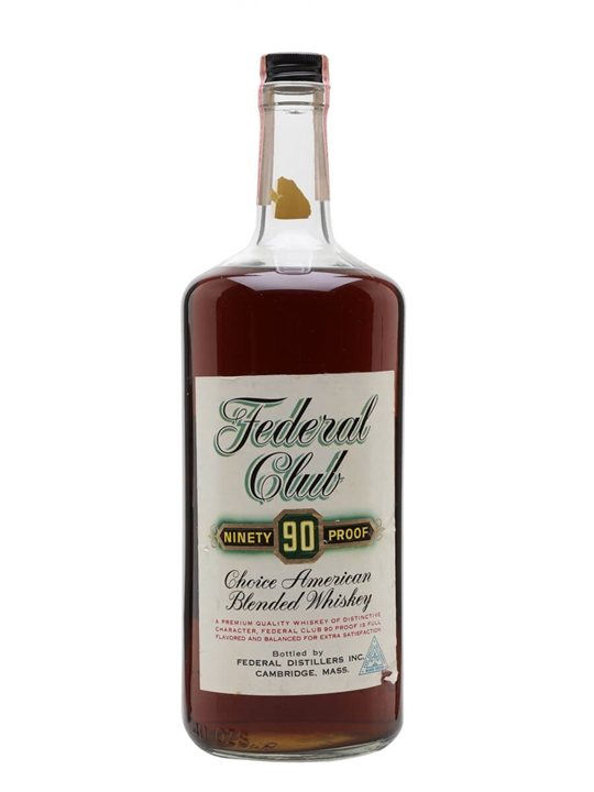Federal Club 90 Proof Choice / Bot.1960s American Blended Whiskey