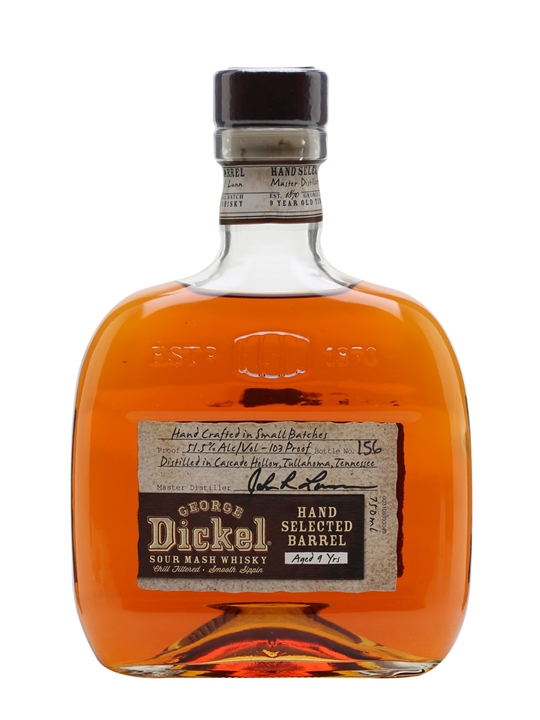 George Dickel 9 Year Old / Hand Selected Barrel Tennessee Whiskey