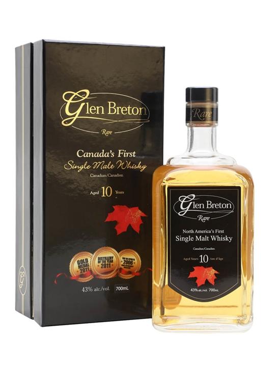 Glen Breton Rare 10 Year Old Canadian Single Malt Whisky