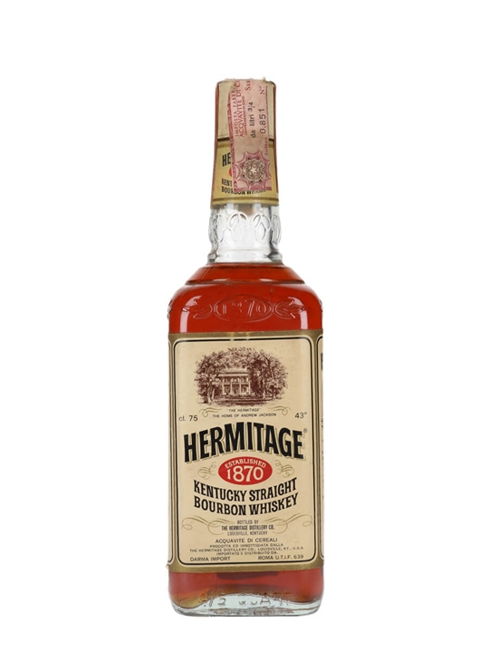 Hermitage 4 Year Old / Bot.1970s Kentucky Straight Bourbon Whiskey