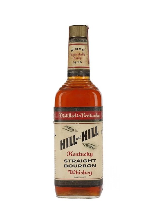 Hill & Hill 4 Year Old / Bot.1970s Kentucky Straight Bourbon Whiskey